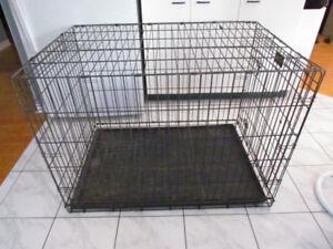 Cage pour GROS chien, en métal tres solide et pliable 42x30x28