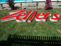 Neon complete Zellers Sign