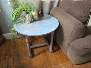 Accent table with Map of Greece London Ontario image 4