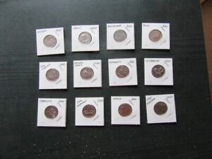 COINS - MILLENNIUM SET OF 12 QUARTERS - YEAR 2000