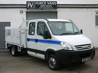 IVECO DAILY 35C12 2.3TD XLWB CAGE TIPPER DROPSIDE CREW TRUCK VAN TAIL LIFT