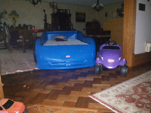"""Little  Tikes  39 """"   Car  Bed       and  CAR"""