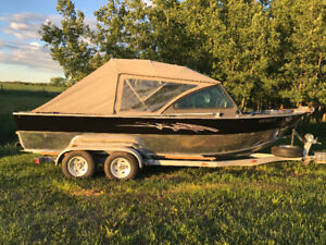 20' ALUMINUM JET BOAT FOR SALE OR TRADE