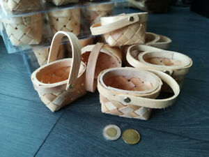 Cute Chipwood Baskets for Easter or a Wedding (42 in total)