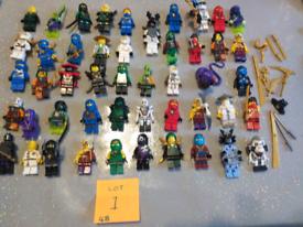 Lego ninjago minifigures x 48