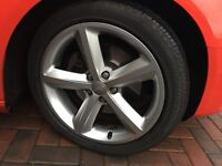 Audi genuine ronal 18 inch alloy wheels and tyres