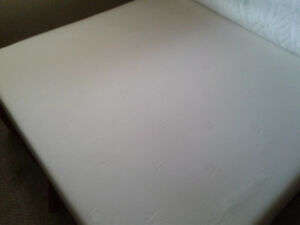 Queen memory foam mattress bed.