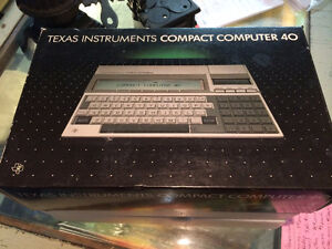 Texas Instruments Compact Computer 40 As New!