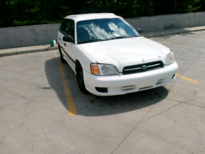 2000 subaru legacy, maintained, low kms. Manual.