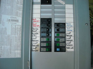 electrical panel& breakers