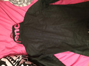 Black and pink bench jacket