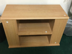 Oak wood tv stand
