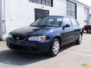 2001 Corolla Great Condition Ready for Road 2 set of tires