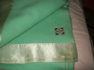 Vintage Haddon Hall Virgin Wool Blanket