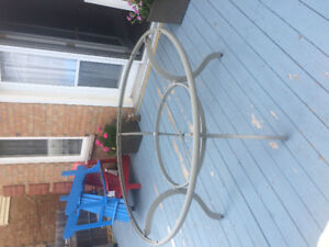 """60"""" round table with glass top"""