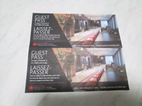2 Air Canada Maple Leaf Lounge guest passes