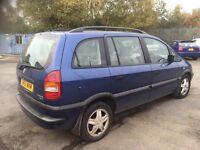 Vauxhall Zafira diesel 7 seater