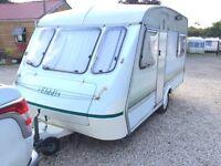 1995/96 4 berth elddis tornado XL family touring caravan
