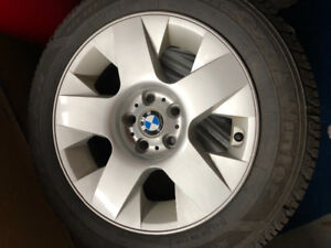235 55R17 Summer Tires on BMW rims