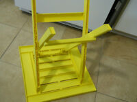 SMALL YELLOW FOLDING TABLE