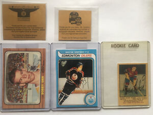 Box bottom rc reprints original signatures gretzky-Orr-Richard