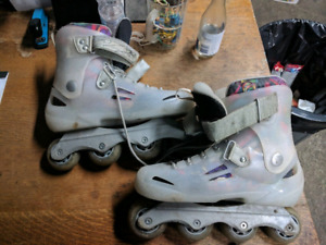 Fusion x3 LE 2011 rollerblades size 11 silver transparent.