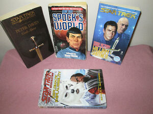 STAR TREK paperback books