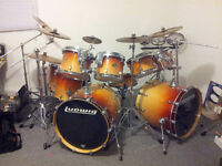 Ludwig Double-Bass Drum set w/ cymbals