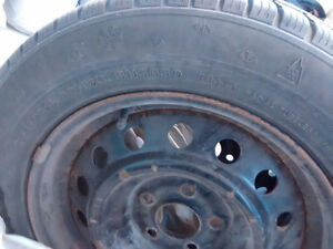 size 215 60 16      2 Winter tires in good condition with rims. Peterborough Peterborough Area image 1