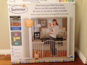 Wall mount baby gate.