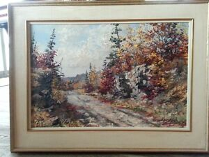 "Keirstead Original Oil, ""Old Lanark Trail"" 20 by 30, Excellent"