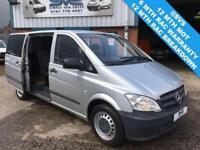 2011 61 MERCEDES VITO LONG LWB 136BHP DUALINER 5 SEAT AUTO CREW VAN AIR CON
