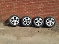 """Vauxhall Snowflake 16"""" Alloy Wheels With Good Tyres Astra Zafira Vectra 5 Stud"""