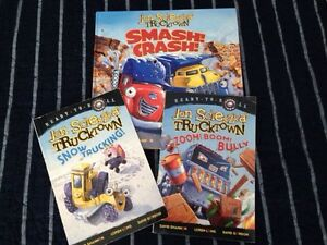 Truck town, max and ruby, froggy.  And super hero books