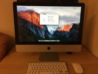 Apple iMac 21.5 inch 2.5ghz i5 DDR3 8GB Ram 500GB HDD Apple wireless keyboard and mouse