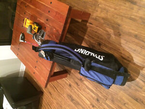 Left hand clubs and bag