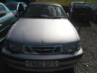 1999 SAAB 9 3 SE SPORT spares repairs no mot silver convertible.