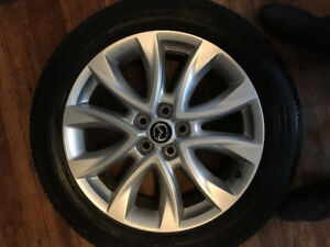 "Mazda OEM Rims 19"" 14.3x5 wheels w/ Toyo Tires (Looks Near New)"