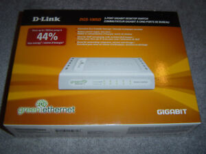 5-PORT GIGABIT ETHERNET SWITCH, $30.