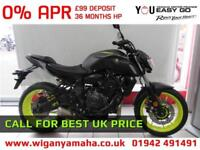 YAMAHA MT-07 ABS 2018 MODEL 99 DEPOSIT, 0% APR FINANCE, CALL FOR BEST UK PRICE