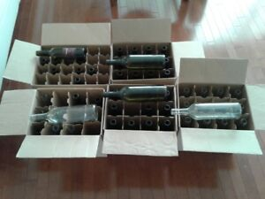 Wine Bottles (to make your own wine) 25 red wine bottles,  18 wh