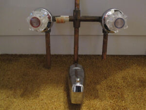 Faucet 3 pc for Tub or Shower w copper brass valves