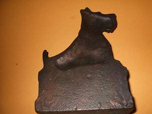 Vintage Scottie Terrier Cast Iron Brass Door Stop Kitchener / Waterloo Kitchener Area image 3