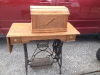 ANTIQUE TREDDLE SEWING MACHINE  reduced