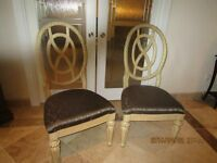Four large dining room chairs