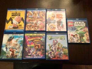 7 Blu Rays for kids! Most are combo packs