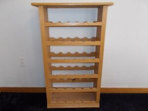 HAND CRAFTED REAL OAK - WINE RACK HOLDS 30