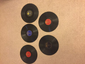 Variety of 78 RPM Records