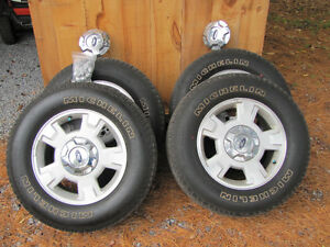 "Ford 2014 F 150 XLT 17"" Alloy Wheels and Tires"
