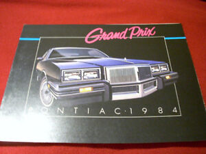 1984 Grand Prix sales folder Peterborough Peterborough Area image 1